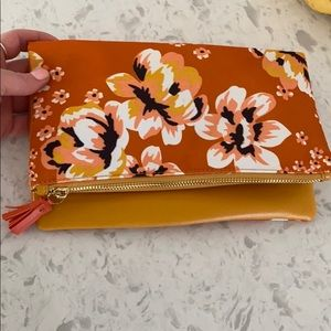 NWOT Rachel Pally floral reversible clutch